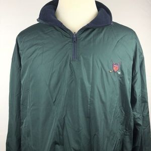 Vintage Polo Golf Pullover XL Jacket Green Blue